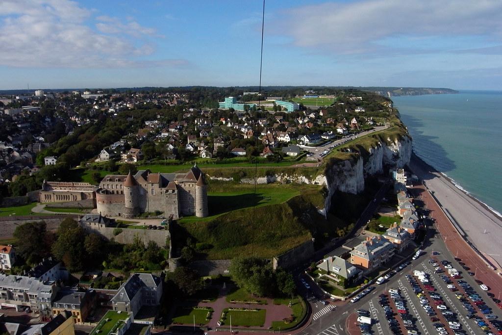 Castillo de Dieppe aérea