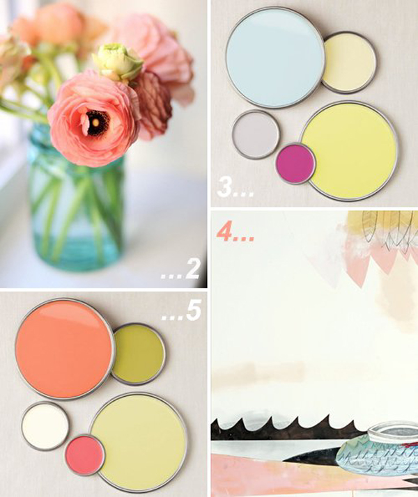 colour palette : fruity sorbet shades - curated by Emma Lamb