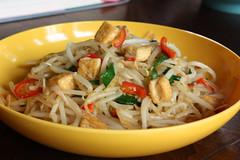 noodle soup(0.0), cellophane noodles(0.0), produce(0.0), soup(0.0), noodle(1.0), mie goreng(1.0), fried noodles(1.0), lo mein(1.0), pancit(1.0), green papaya salad(1.0), food(1.0), dish(1.0), chinese noodles(1.0), pad thai(1.0), cuisine(1.0), chow mein(1.0),
