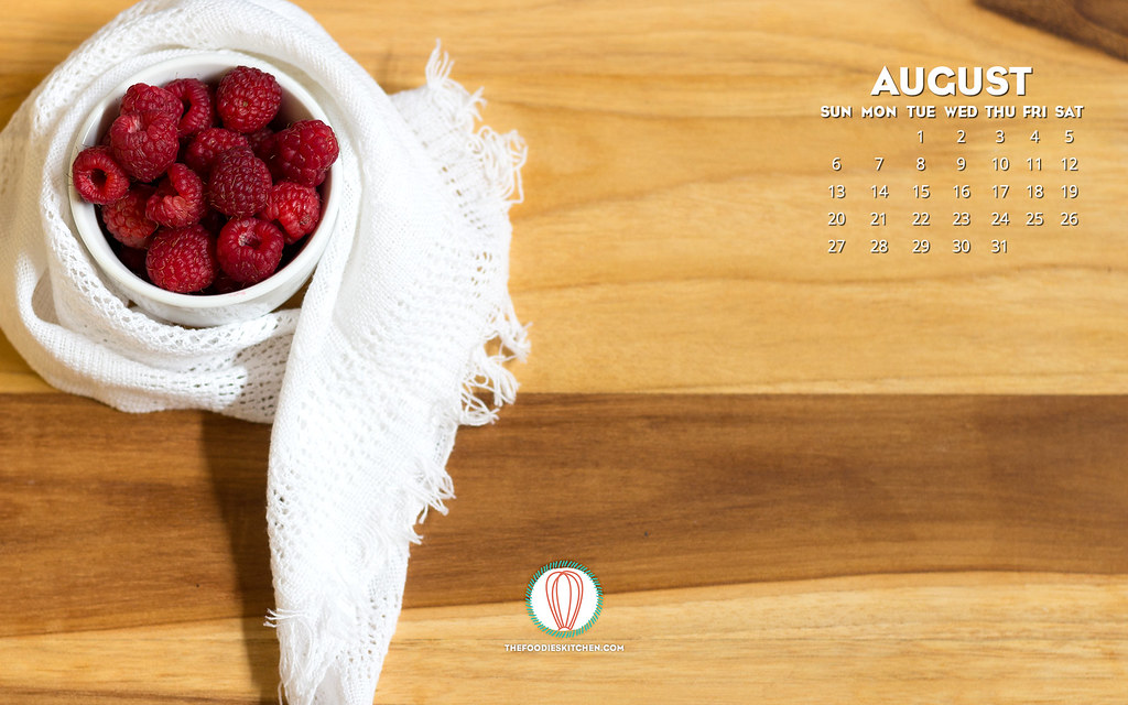 Foodies Freebie: August 2017 Wallpaper Collection