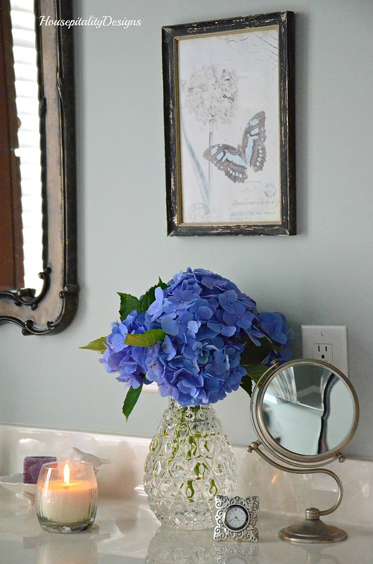Master Bathroom-Hydrangeas-Housepitality Designs