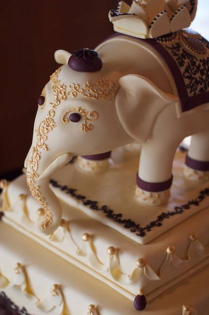 Ornate Elephant Wedding Cake