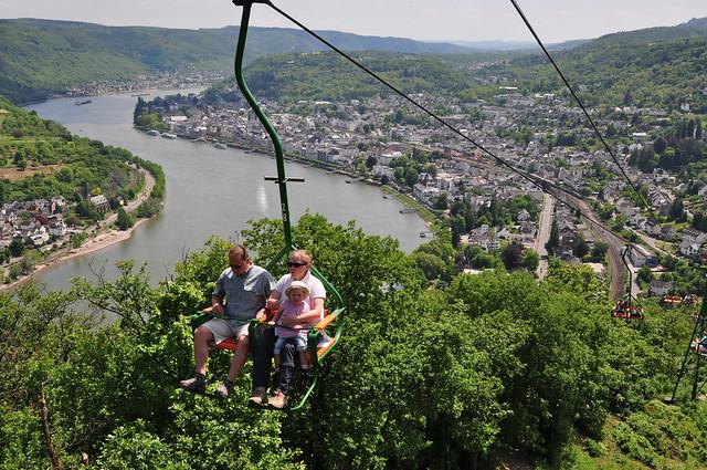 Boppard Germany  City new picture : Chair lift Boppard am Rhein. Germany. |
