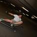 Longboard slide in a parking garage by Sam Martin (abikeOdyssey)
