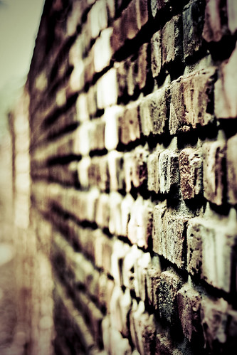 Between walls of brick
