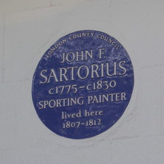 Photo of John F. Sartorius blue plaque