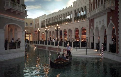 Canal inside Venetian Hotel, Las Vegas, Nevada, USA