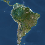 South america - Satellite image - PlanetObserver