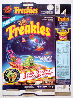 1987 Ralston Freakies Cereal Box Front