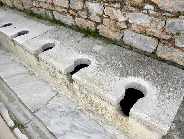 Roman Toilets Ephesus Ancient Greek Ἔ Turkish
