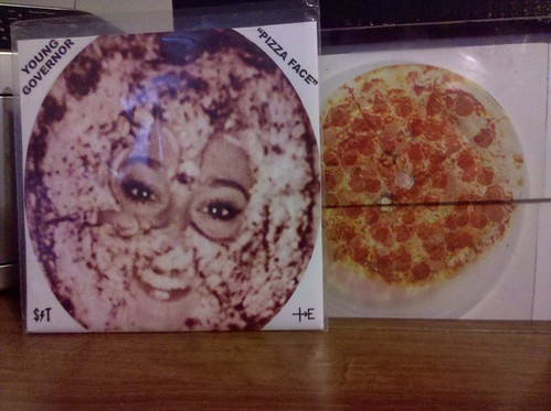 "Young Governor - Pizza Face - Lathe Cut Plexiglass 7"" /66 Copies by factportugal"
