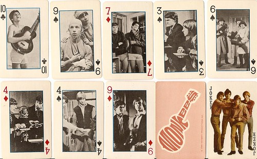 assorted monkees playing cards