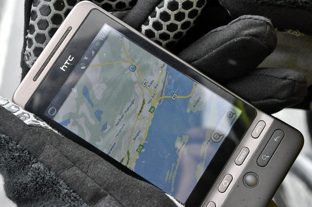 Google Maps on HTC Hero
