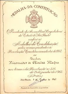 medalha da constituição
