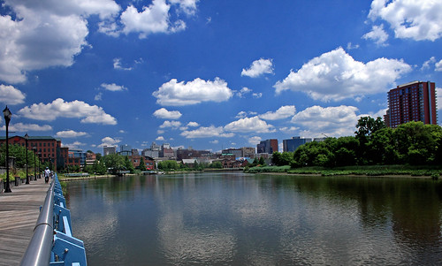 Wilmington Delaware  Skyline  From the Riverwalk