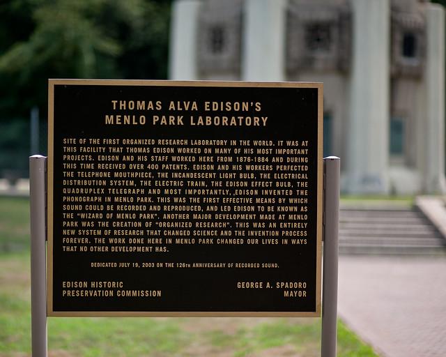 Development edison menlo papers park research thomas