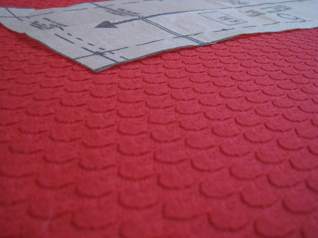 red polyester fabric texture
