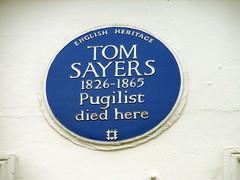 Photo of Tom Sayers blue plaque