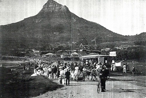 Electric Tram Leaving Camps Bay via Kloof Nek for Cape Town