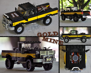 "LEGO ""Gold Mine"" Pickup Truck"