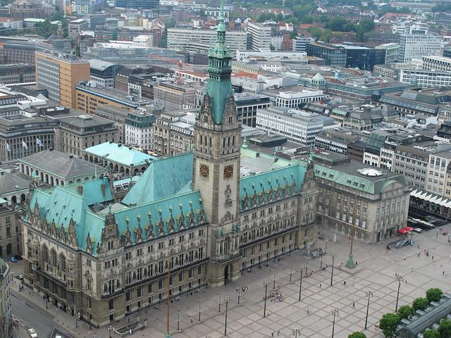 City Hall from Above - Hamburg, Germany
