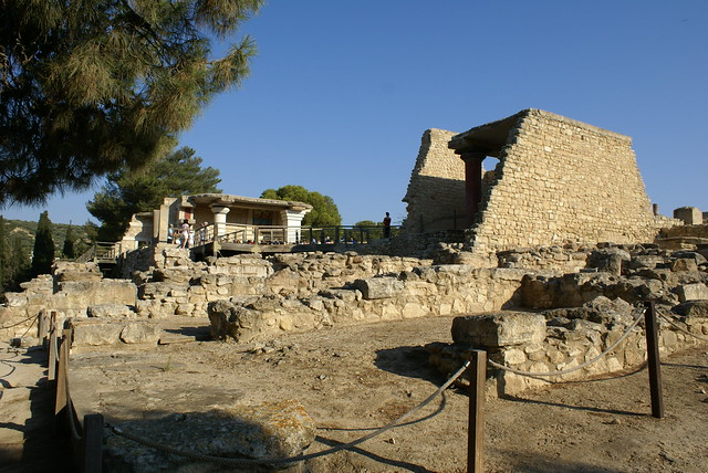 Ruins of the Minoan Knossos Palace