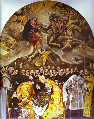 El Entierro del conde de Ordaz. El Greco.