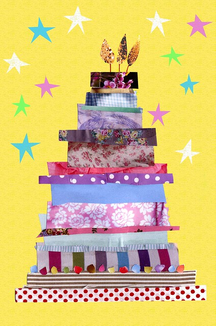 Birthday Cake Collage Imagechef : Fancy Birthday Cake Collage birthday card design By ...