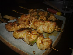 fried food(0.0), meat(0.0), produce(0.0), meal(1.0), brochette(1.0), food(1.0), dish(1.0), yakitori(1.0), cuisine(1.0), skewer(1.0), grilled food(1.0),