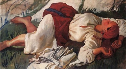 Zinaida Serebriakova, Peasant woman sleeping, 1917