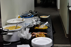 Pot luck lunch at GBS