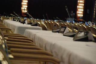 Plenary hall seating