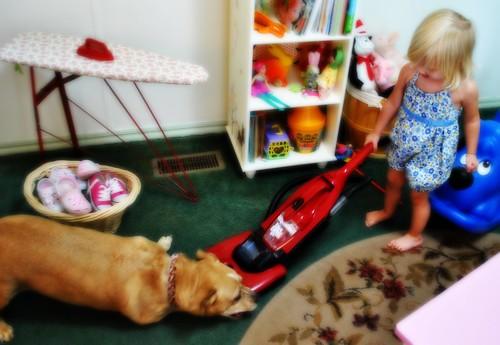 The little housekeeper...