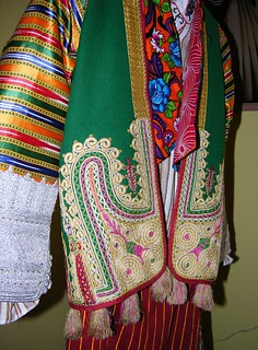 Close-up, Front View, Woman's Inner Dress & Vest, Outer Jacket & Apron, Gjakove, Kosovo