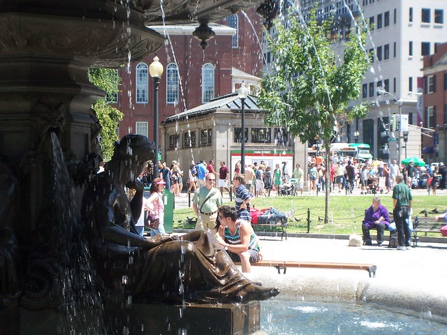 new fountain in boston common
