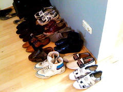 Shoe collection.