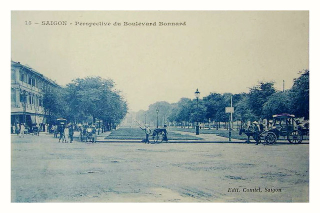 SAIGON -- Perspective du Boulevard Bonard