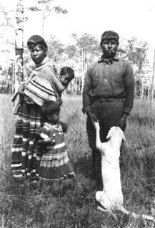 Seminole Josie Billie with family and dog