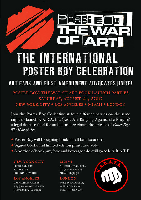Poster Boy Book Party will be at 17 Frost Theatre Of The Arts in Williamsburg on August 28th