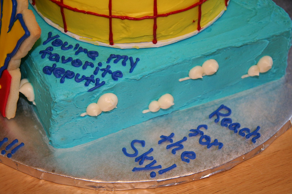 Swell Toy Story Cake Phrases This Was For A Co Workers Son Who Flickr Funny Birthday Cards Online Sheoxdamsfinfo