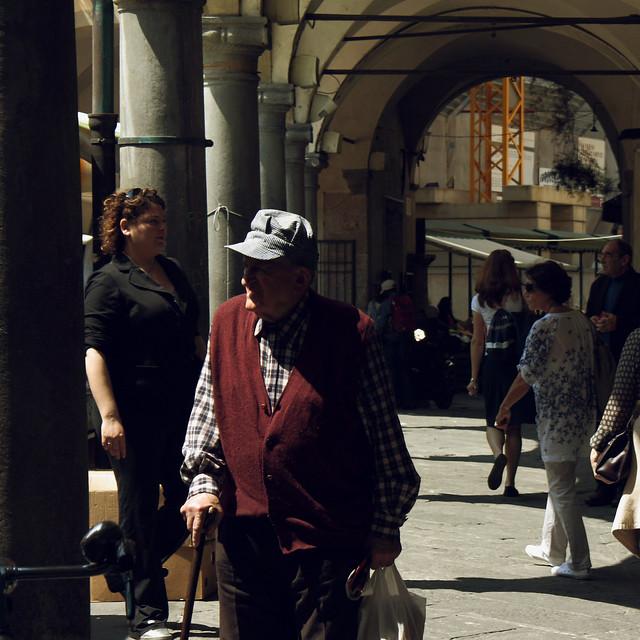 Arcades of Pisa #4 The old man