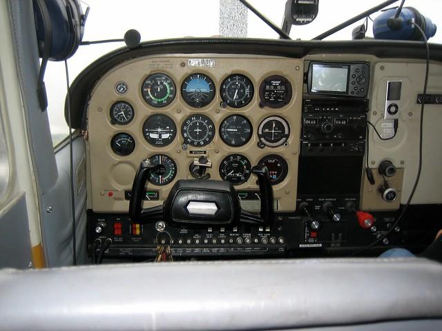 Cessna 185 Cockpit