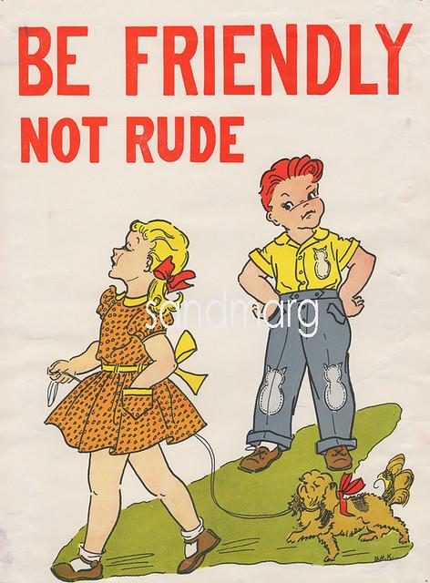 Vintage 1950s School Good Manners Poster Explore
