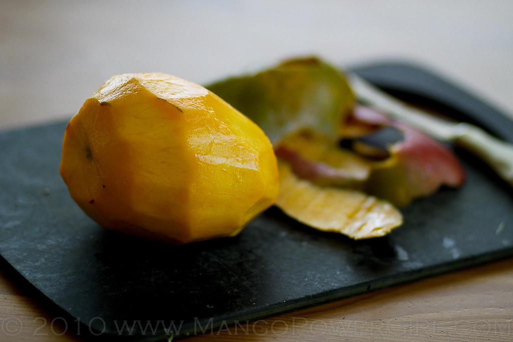 peeled mango