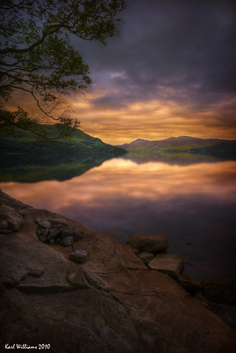 longexposure sky water clouds sunrise reflections landscape dawn scotland rocks williams karl trossachs hdr lochkatrine karlwilliams