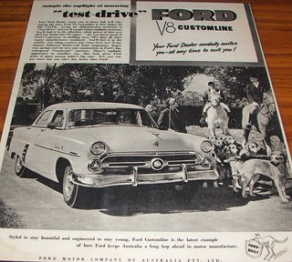1953 Ford Customline V8 Ad