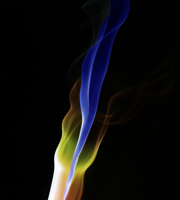 coloured smoke abstract