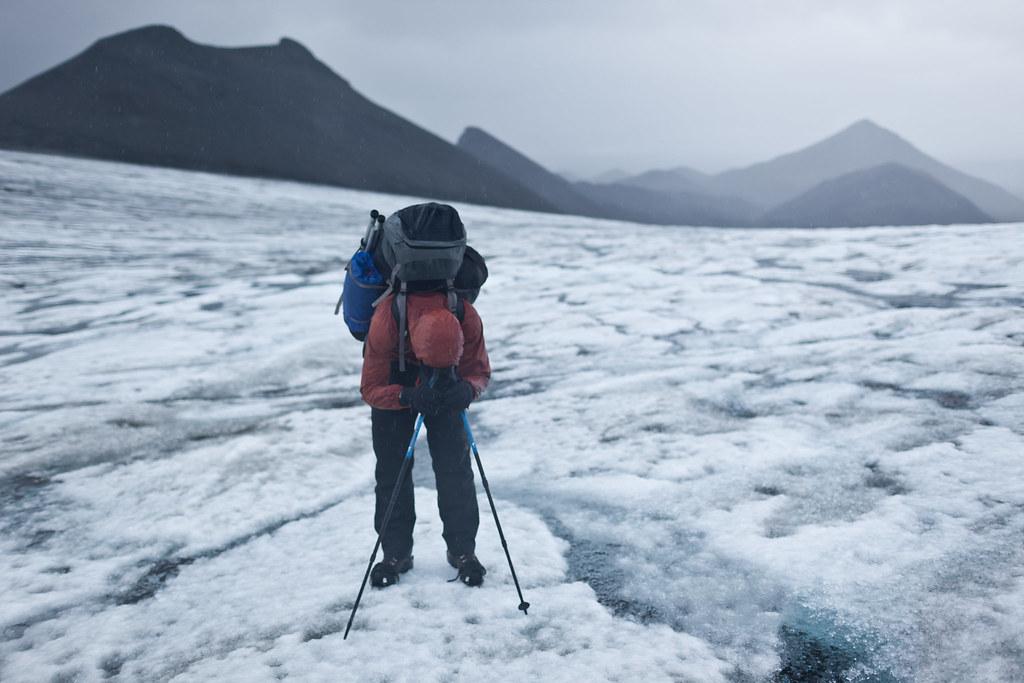 Crossing the Hofsjkull glacier, Iceland
