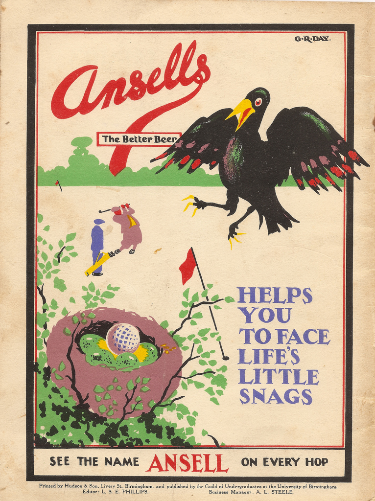 Ansells - the better beer - advert for Ansell's Brewery, Birmingham, 1926