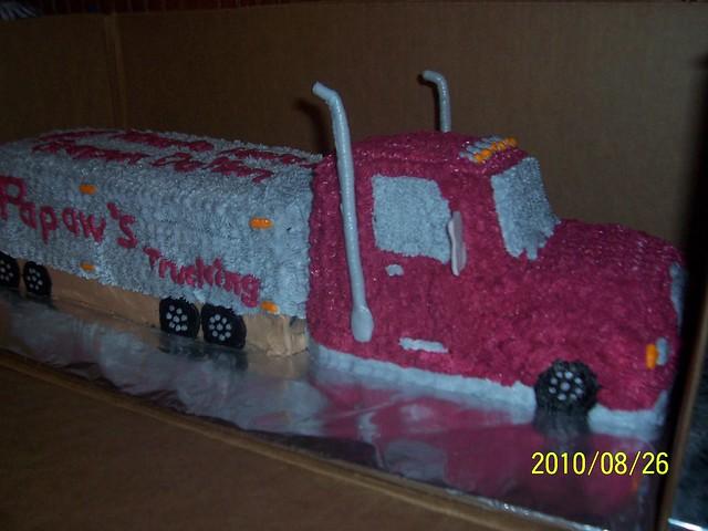 18 wheeler birthday cakes